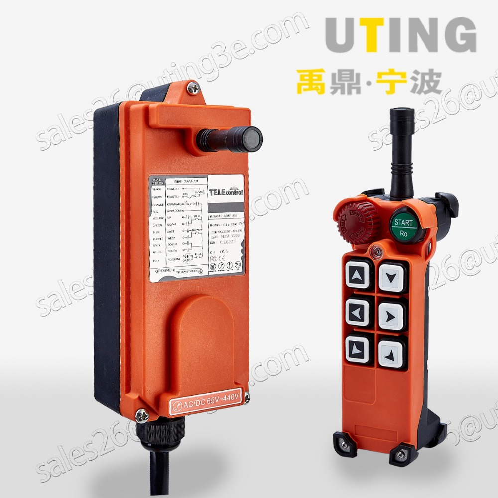 F21 E1 Industrial Remote Control AC DC Universal Wireless control for Hoist Crane 1transmitter 1receiver