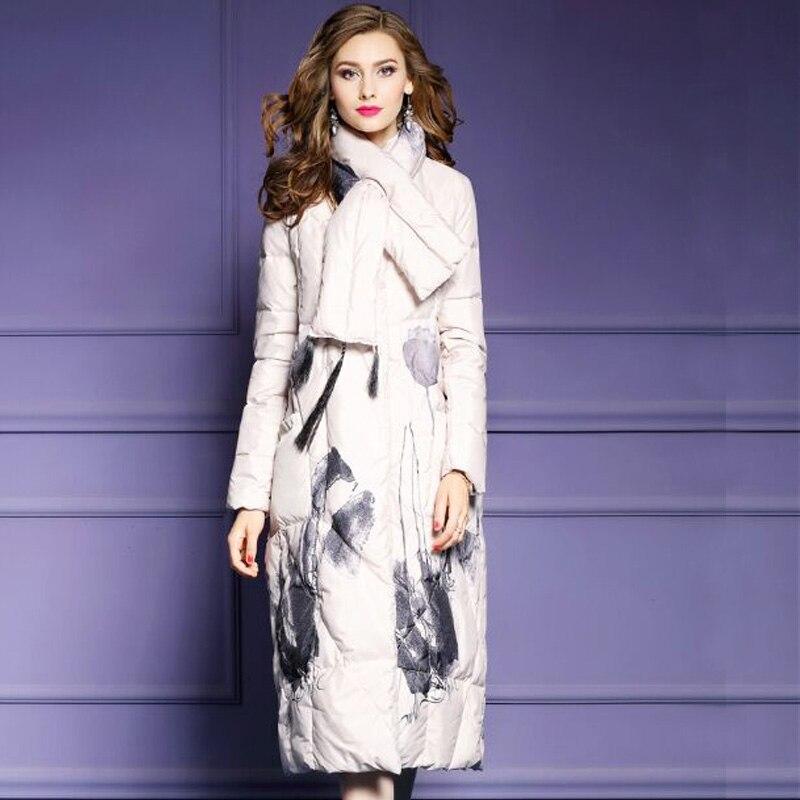 Duvet Long Femmes Beige Mode Capuche De Hiver Nouvelles Chaud 2018 noir Parka Blanc D'hiver Canard gris Épaississement À Veste Femme Manteau CwPp4