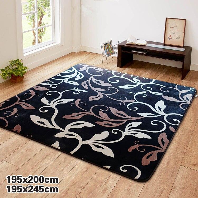 195x240cm grand Floral Non-Slip zone tapis salon chambre salle à manger moderne tapis tapis tapis de sol Rectangle lavable en Machine