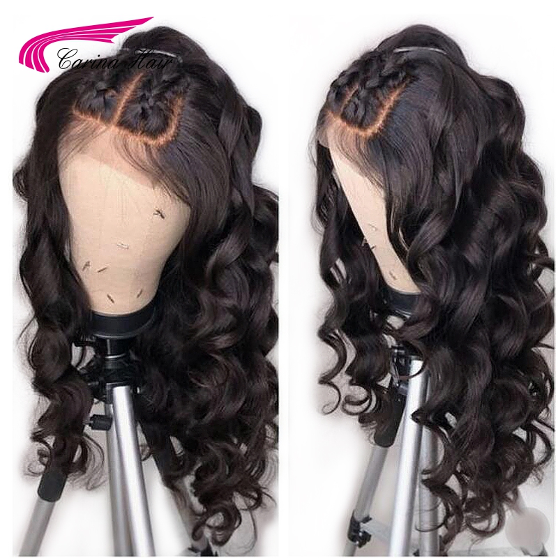 Carina 13 6 Deep Part Lace Front Human Hair Wigs with Baby Hair Brazilian Remy Hair