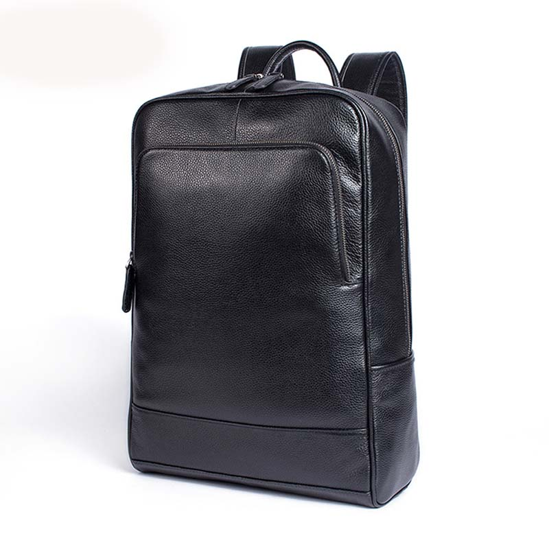 лучшая цена AETOO Casual business leather backpack large capacity men leather computer backpack student school bag