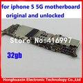 32 gb mainboard motherboard para iphone 5 5g desbloqueado originais 100% bom trabalho placa lógica com o software do sistema IOS por para apple
