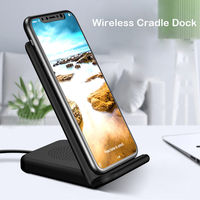 Fast Wireless Cradle Dock Desk Holder Charger Adapter For IPhone 8 X Samsung S8 S8 With