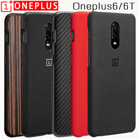 Oneplus 6T Case Cover Original Nylon Karbon Ebony Bumper Fitted Case Sandstone Flip Leather One Plus 6T Case Silicone Cover Case