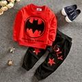 TZ376 Muchachos Del Otoño Del Resorte niños Batman Spiderman chándales 2 unids. set trajes ropa de niños sets holgada capa + pantalones
