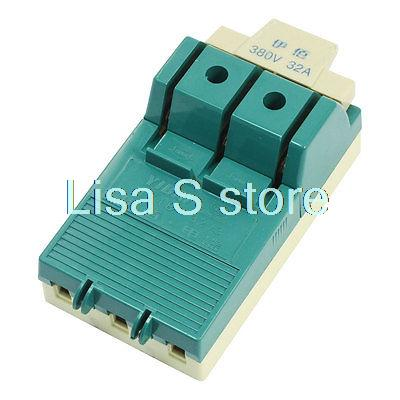 цена на AC380V 32A 6 Screw Terminal Circuit Control One Side Knife Disconnect Switch
