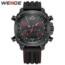 WEIDE Марка Новых Людей Прибытия Спортивные Часы Аналоговый Цифровой Дисплей 3atm Цифровые Кварцевые Двойной Движение Силиконовый Ремешок