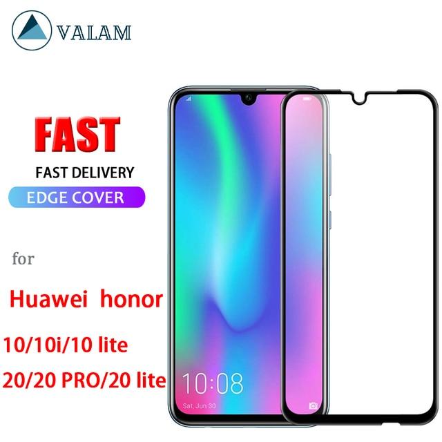 กระจกนิรภัยสำหรับHuawei Honor 10 20 Lite 10i Protectorเต็มรูปแบบป้องกันสำหรับHonor 10 10i Lite 20 Pro