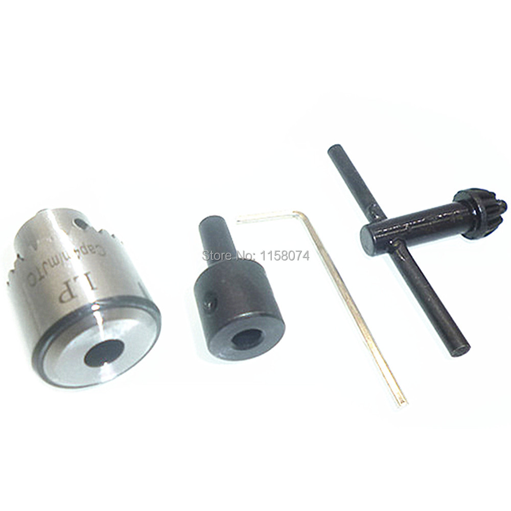 時計メーカーの電気ドリルチャック0.3mm-4mm Jt0テーパー取り付け小型ドリルビットチャックキー+ 5mmモーターシャフトカップリングコネクタロッドチャック