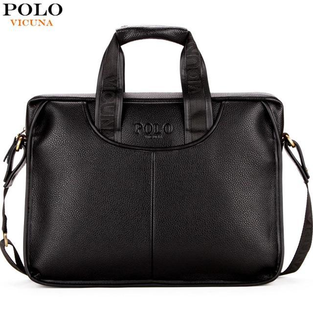 VICUNA POLO классический дизайн большой размер кожаный портфель s Мужская Повседневная деловая сумка портфель сумки Сумка для ноутбука Малетин