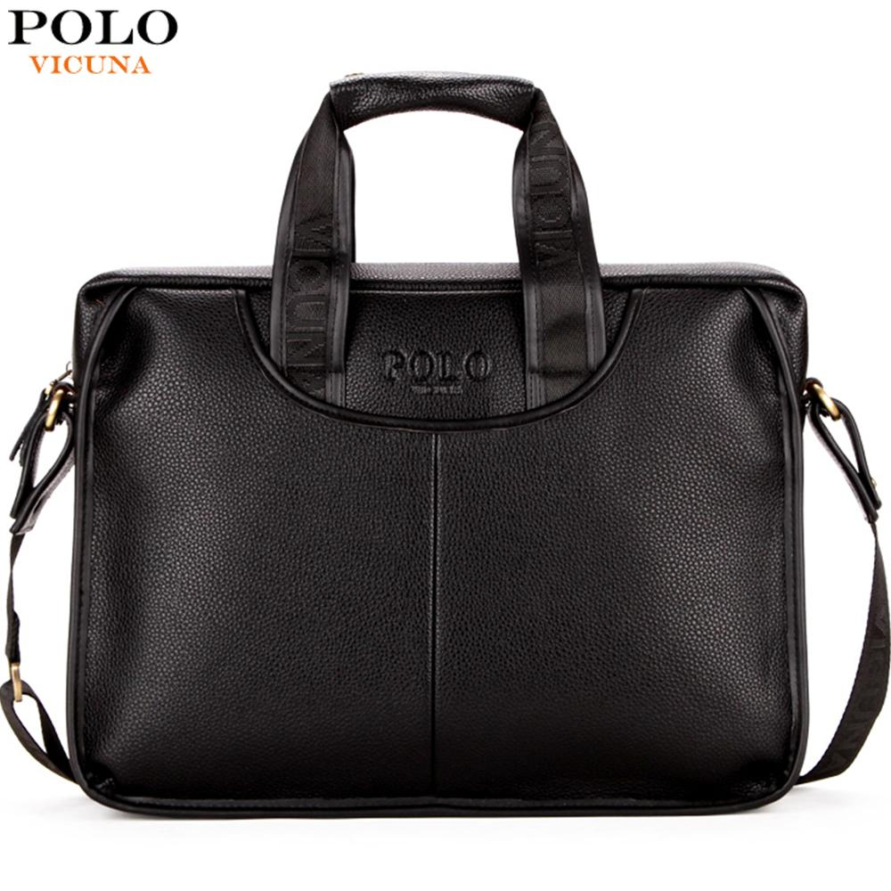 98fefa4ef718 VICUNA POLO Classic Design Large Size Leather Briefcases Men Casual  Business Man Bag Office ...
