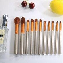 11pcs Travel Makeup Brush Set Tools Powder Foundation Eyeshadow Lip Eyeliner Blush Professional Make Up YA50-11