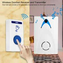 Wireless Music Doorbell Remote Home Door Bell Set Includes Receiver and Transmitter Doorbell Set for Home Office Security стоимость