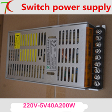 LED display dedicated power supply 5V40A 200W can control 6 pcs p2 5 p3 p4 p5