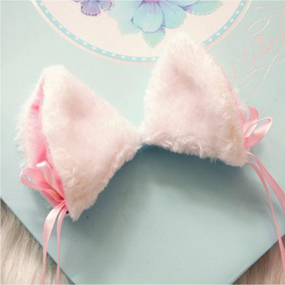 Cosplay Kitten Neko Cat Ears With Little Bell Hair Clip Japanese Lolita Mail Cute Headwear Sweet Girls Cat Ears Kawaii Clip orecchiette party s cat fox long fur ears anime neko costume hair clip cosplay 2017