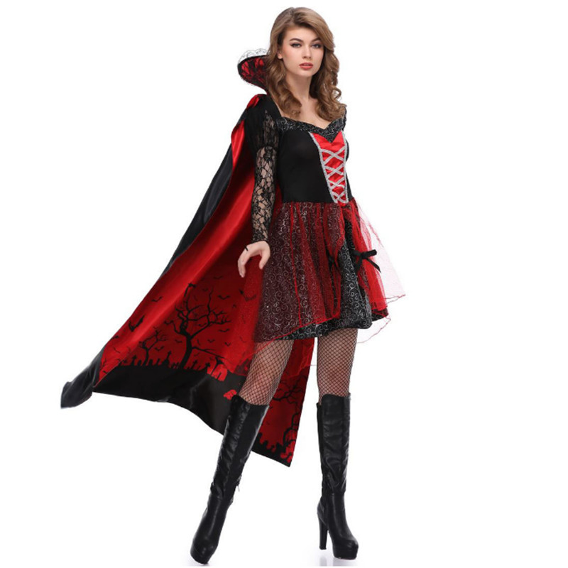 Halloween Undead Festival Costume Ball Ghost Bride Plays Uniform Vampire Woman Countess Queen COS Costume Christmas party dress