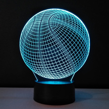 3D Night Lights Basketball Shape Table Lamp Battery Powered Veilleuses Pour Enfants Nightlight Luminaria Home Lighting Lampara