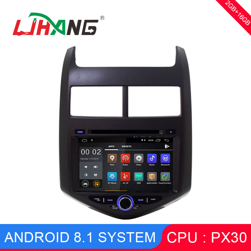 LJHANG 2 Din 8 inch Android 8.1 Car Multimedia Player For Cheverolet aveo 2011 GPS Navi Mirror-link Bluetooth WIFI Audio Stereo
