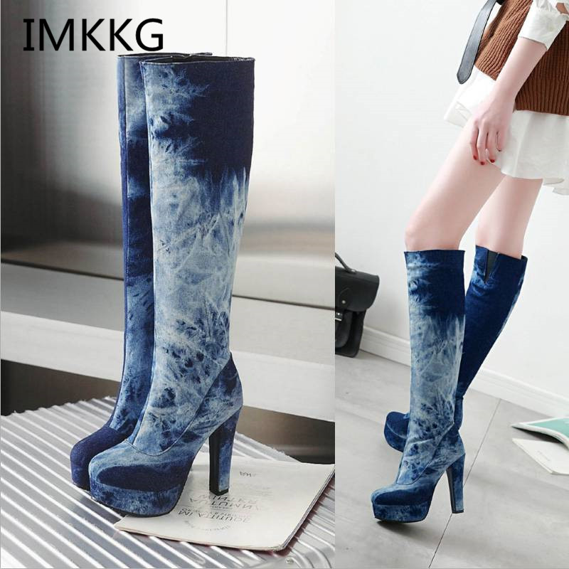 Shoes Women Boots Autumn And Winter Snow Boots Ladies Sexy Knee High Boot Big Size 34-43 Hot 2018 Fashion Newest S481 Stationery Stickers