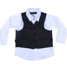Nimble Deep Navy Blue Stripes Boys Suits for Weddings Formal Suits For School Birthday Party roupas infantis menino boys outwear