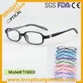 TR9003 niños gafas de prescripción de goma suave con la bisagra del resorte marcos ópticos de las lentes de la miopía hipermetropía gafas