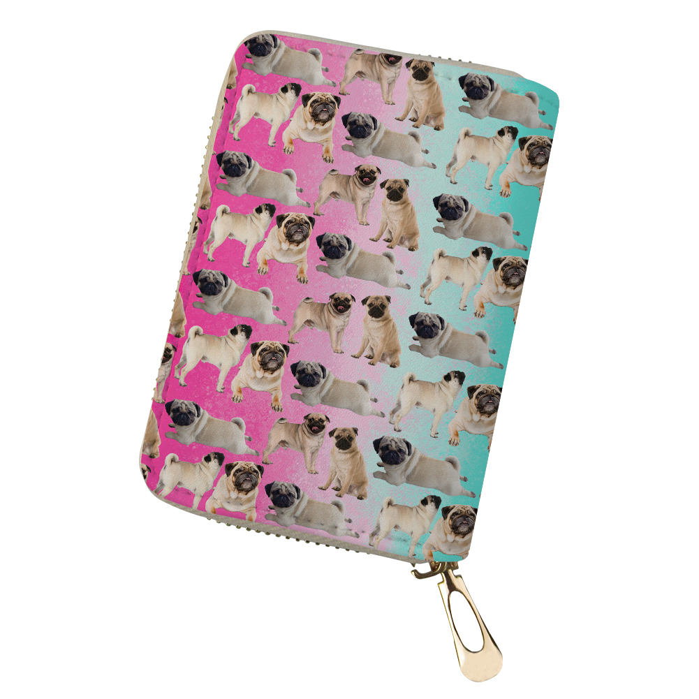 Card & Id Holders Bulldogs Corgi Pet Women Credit Card Holder Pu Leather Waterproof Zipper Protective Bag For Name Id Card Wallet Cardholder Cover