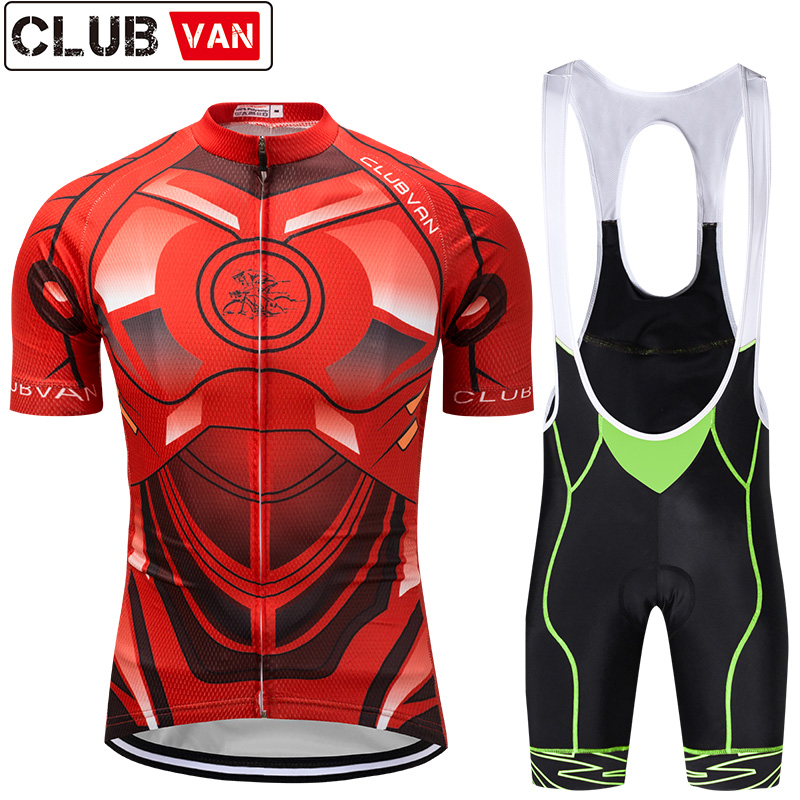 clubvan Cycling jersey Set Summer Bicycle Clothing Maillot Ropa Ciclismo Hombre MTB Bike Clothes Sportswear Suit Cycling Set#A6 tinkoff saxo bank cycling jersey ropa clismo hombre abbigliamento ciclismo men s cycling clothing mtb bike maillot ciclismo d001