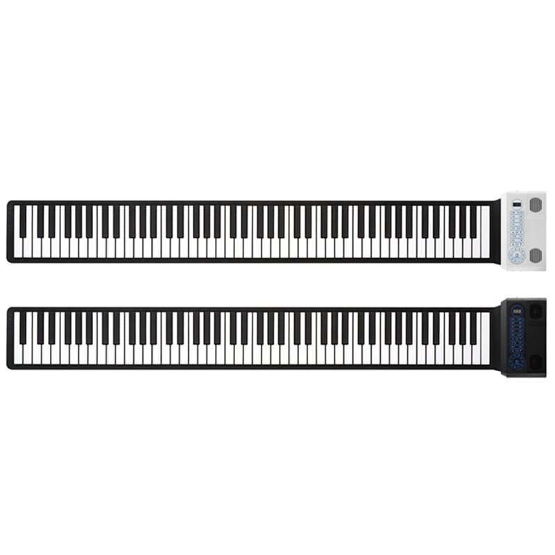 2019 S3088 88 Keys Portable Hand Roll Up Piano Built in Dual Speakers Digital Piano Supply Learning CD Foldable Keyboard Piyano