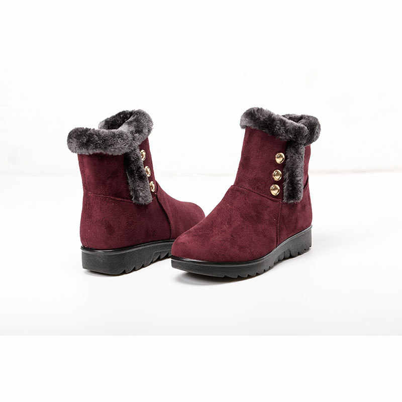 2018 moda kadın kar botları kış sıcak çizmeler kalın peluş düz yarım çizmeler kadınlar için pamuklu ayakkabılar kadın botas mujer WSH3145