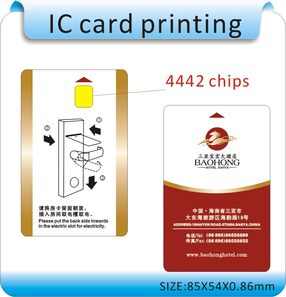 Hotel Door Card, Imported From Abroad 100pcs Printing Sle-4442 Chips Non-contact Ic Card Contactless Ic Card