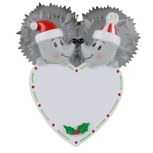 Hedgehog Polear Bear Couple Resin Hanging Personalized Christmasas Ornaments