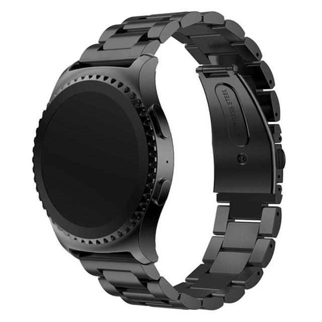 22mm de aço inoxidável assista banda para samsung galaxy gear s2 classic sm-r732 alta qualidade pulseiras de relógio correa reloj