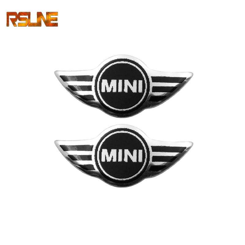2pcs Free Shipping 21mm*10mm MINI Car Logo Auto Key  Car Emblem Badge Sticker Car Styling Auto Accessories