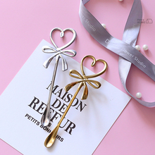 Creative Love Bow Stainless Steel Coffee Spoon Barista Tools For Banquet Gift Kitchen Decoration Coffee Stirring Scoop