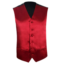 Mens Wedding Waistcoat Groom (Purple red 4XL/UK 48)