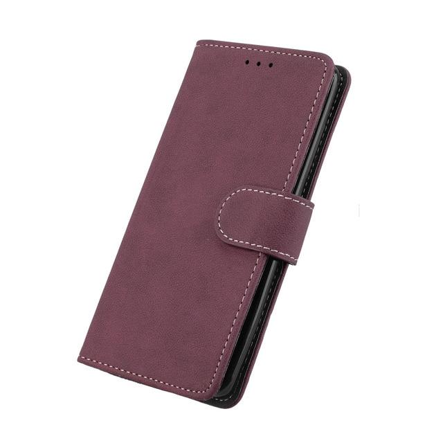 pinlu/® Alta Calidad Funci/ón de plegado Flip Wallet Case Cover Carcasa Piel PU Billetera Soporte Con Tr/ébol de la suerte P/úrpura Funda Para Xiaomi Mi5
