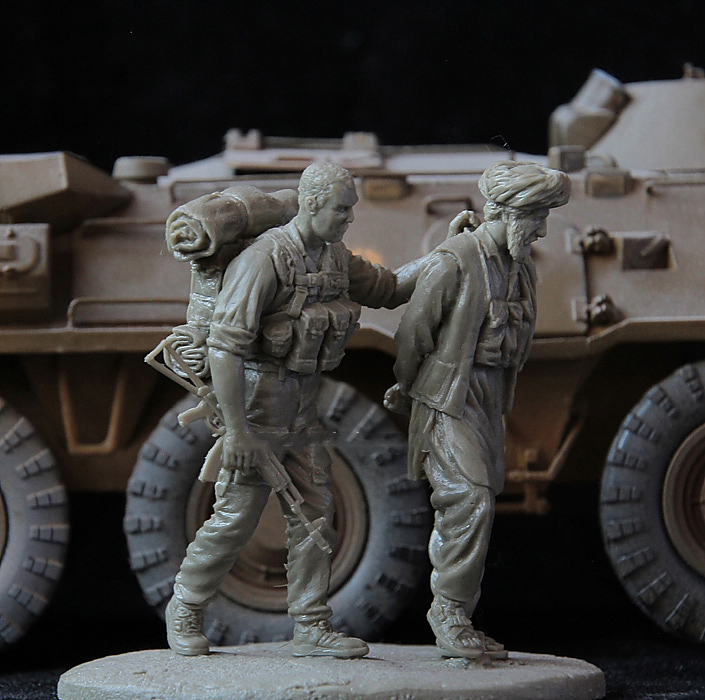 1/35 Soviet Special Forces Officer   Toy Resin Model Miniature Kit Unassembly Unpainted