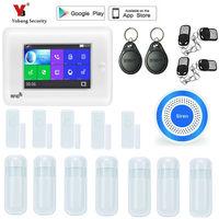 SmartYIBA 4.3 Touch Screen WIFI GSM Alarm Wireless Burglar Sensor Alarm System 433Mhz Security Sensors Alarm APP Control Kits