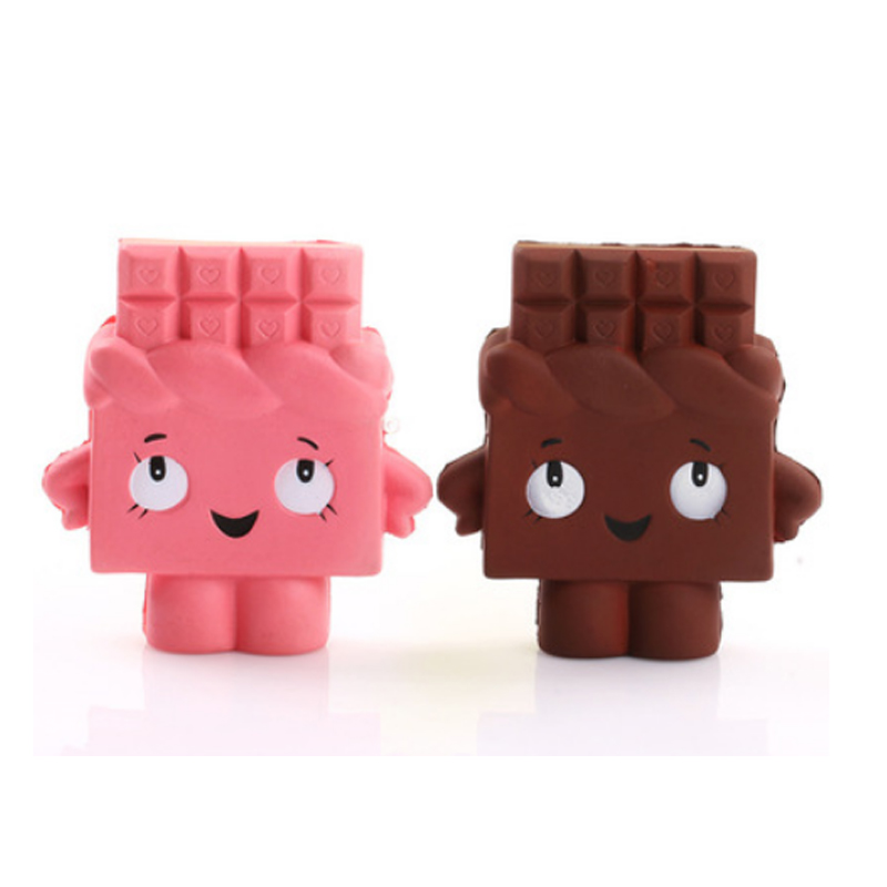 1PC Cartoon Chocolate Robot Cute Slow Rising Funny Gadgets Antistress Play Slime Stress Toys Soft Squeeze Toys