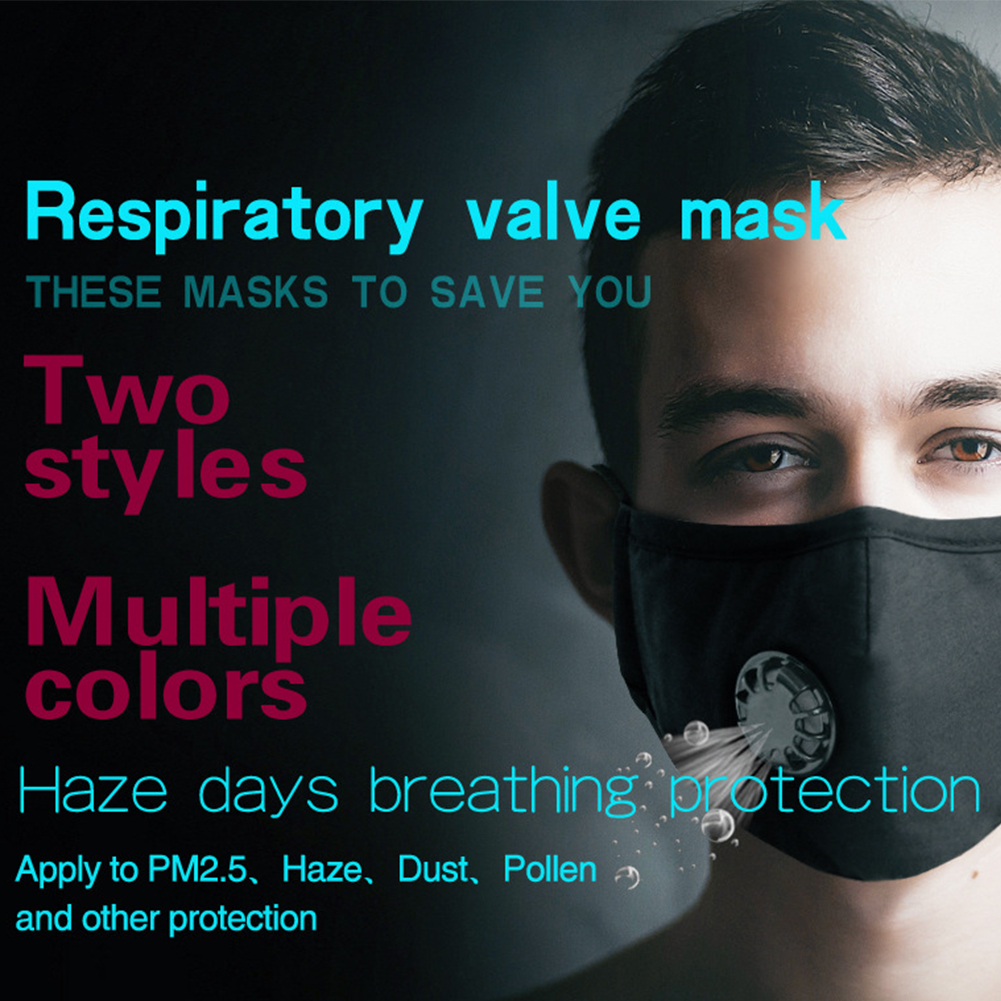 Image 3 - Breathing Dust Mask for Men and Women Anti fog Dust PM 2.5 Pollen Breathable Valve Mask Reusable Activated Carbon Air Filter-in Particle Respirators from Security & Protection