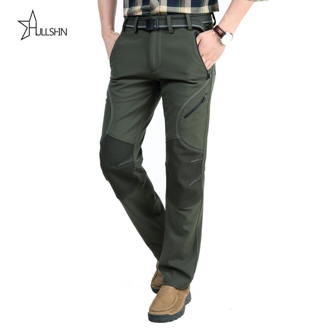 2016 Brand Winter  army green Baggy Pants For Men Military Camouflage Velvet Trousers  Sweatpants sjia 2152