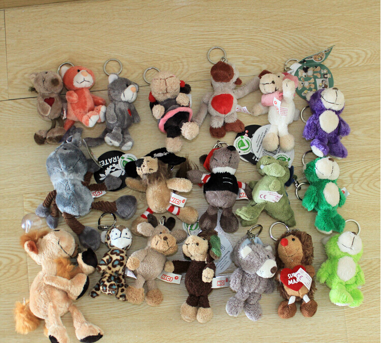 10pcs/lot  10cm NICI Plush Toy Doll High-quality Stuffed Small Pendant Animal Keychain Gifts for Kids Birthday Presents rabbit plush keychain cute simulation rabbit animal fur doll plush toy kids birthday gift doll keychain bag decorations stuffed