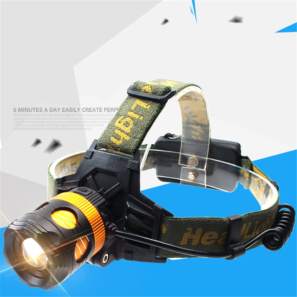 LED Outdoor Sports Headlamp Headlight Torch Charge Zoom Strong light Long-range Fishing Camping Head-worn Exploration Lighting