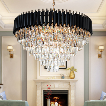 цена New Arrival Crystal Chandelier Modern Good Quality Round Hanging lustre Elegant K9 Crystal Suspension Lamp for Living room Foyer онлайн в 2017 году