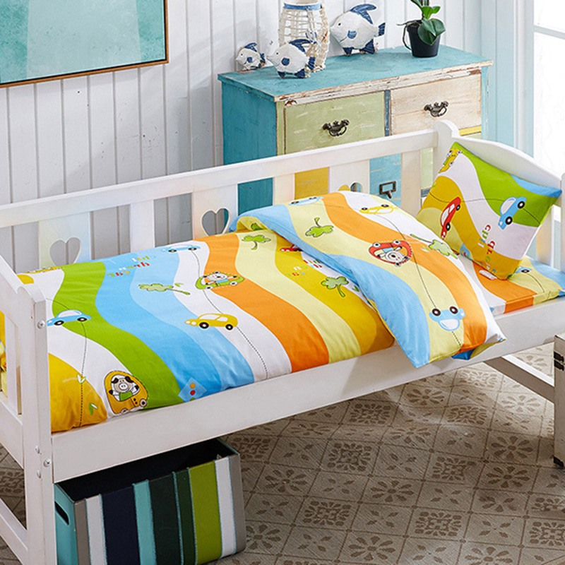 Good Quality Baby Cot Bedding Set Infant Toddler Crib Bed Duvet Mattress Cover Pillowcase Newborn Kids