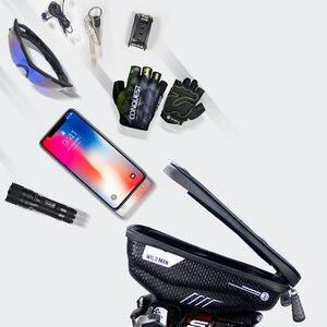 Image 5 - Универсальная Водонепроницаемая велосипедная сумка для телефона, держатель для телефона на руль, тачскрин, аксессуары для Bycicle