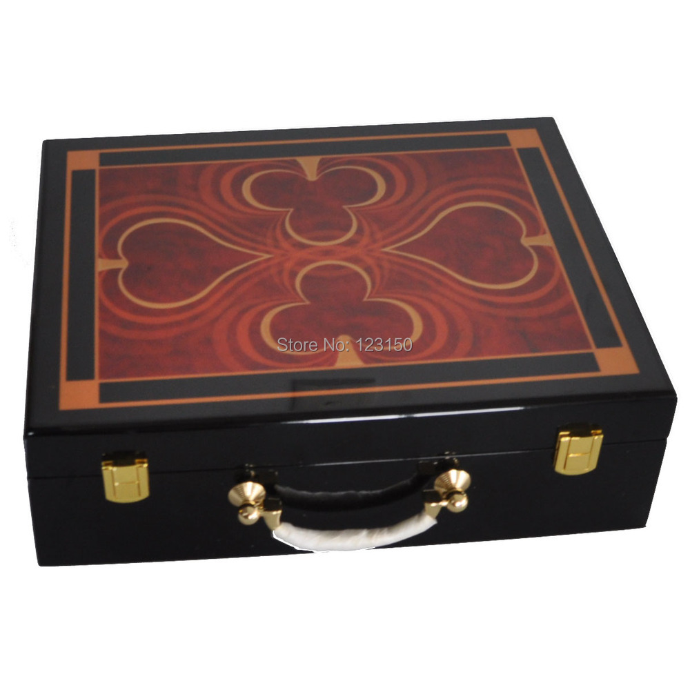 AC-086 High Quality Poker Chip Wooden Case for holding 500pcs chips
