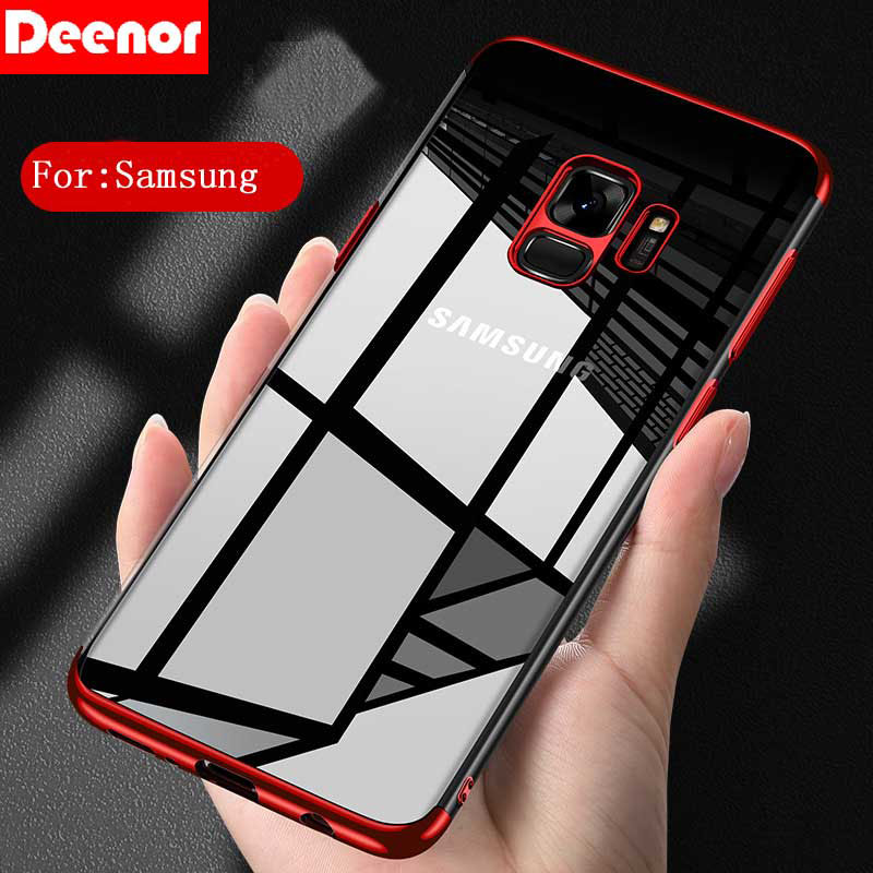 Deenor Ultra Slim Transpar Soft TPU Cover Case for Samsung Galaxy S8 S9 Plus S6 S7 Edge A7 2018 A5 A3 2016 Note 8 J3 J5 J7 2017 ...