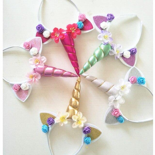 Decoraciones de fiesta de cumpleaños para bebé, diadema de unicornios, recuerdos para bebé, regalos para niños