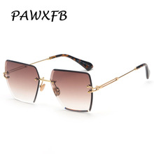 PAWXFB 2019 New Square Sunglasses Women Fashion Gradient Sun glasses Accessories Ladies Glasses